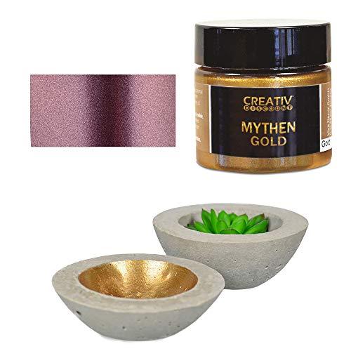 CREATIV DISCOUNT Mythen-Gold 45 ml, Metallic Deko- / Effektfarbe, Farbton Aubergine