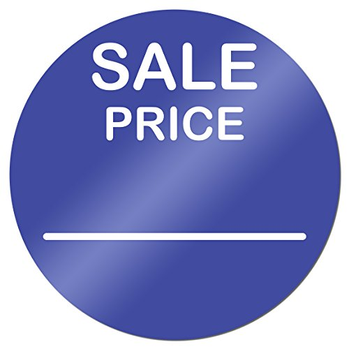 Sale Price 2 Inch Round Sticker Label Retail Store Tag Blue 900 Labels