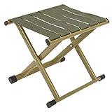 FEMONGY sillas Plegables de Caza, Taburete Plegable Fuerte, Taburete Plegable Camping, Fabricado en Acero al Carbono, Conveniencia, Utilizado para Acampar (Verde, 29cm x 26,5cm x 26cm, 1 Pieza)
