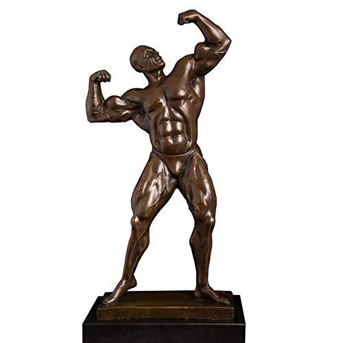SDBRKYH Mann-Torso-Skulptur, männliches nacktes Muskel-Statuen-Körper-Statuen-Bodybuilder-Modell Copper Crafts