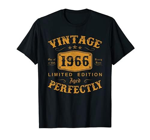 55 Ans Anniversaire Homme Femme Humour Cadeau Millésime 1966 T-Shirt