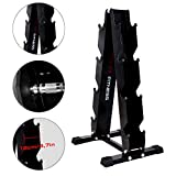 CCLIFE 4 pairs Dumbbell Rack 300kg load for Dumbbell hex weights rubber Dumbbells