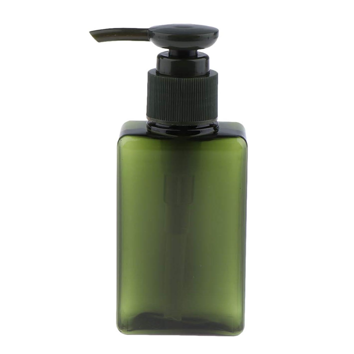 投げ捨てる未就学一族P Prettyia 化粧品ボトル ポンプディスペンサー シャンプー コスメ 詰替え容器 6色選べ - 緑