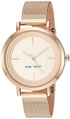 Nine West Women's NW/2146RGRG Rose Gold-Tone Mesh Bracelet Watch