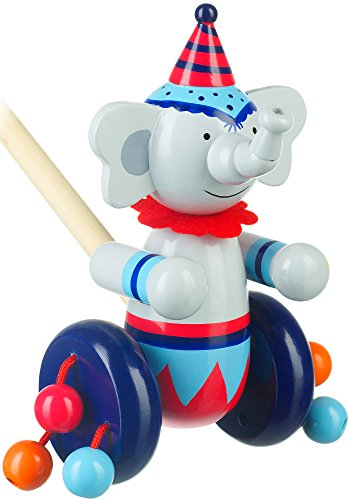 Orange Tree Toys Circus Elephant Push Along