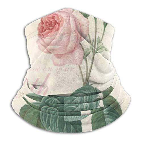 Máscara elástica multifuncional para la cabeza de 90 cumpleaños, diseño vintage, color rosa