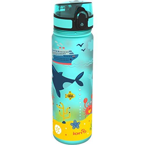 Ion8a Prova di perdite 'Sea Life' Slim Bottiglia d' Acqua, Senza BPA, 500ml/510,3Gram