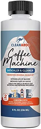 Cleanaroo Coffee Machine Descaler Cleaner 8oz Made in the USA Universal Descaling Solution for product image