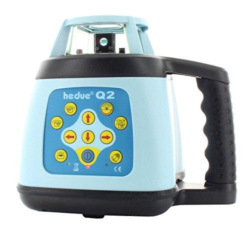 hedue R159 Rotationslaser Q2 mit Prüfzeugnis im Koffer mit Laser-Empfänger, Fernbedienung und Batterien