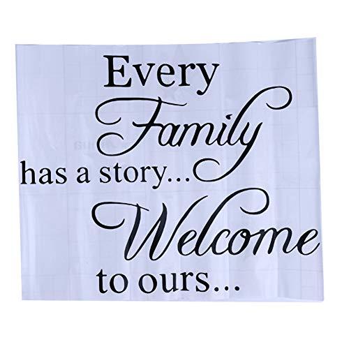 Husmniors Jede Familie hat eine Geschichte Willkommen zu unserem Wandtattoo mit Vinyl-Aufklebern