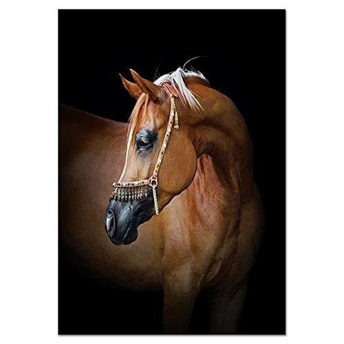 Engfgh Leinwand Malerei Dekorative Gemälde, Moderne Pferde Malerei Wandbilder Für Wohnzimmer Leinwand Malerei Tier Wandkunst Bilder Kein Rahmen Leinwand Poster Drucke (Size : 30x45cm)