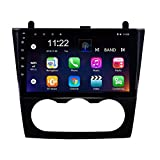 HWENJ 9 inch HD Touchscreen Android 8.1 Car Player for Nissan Teana Altima 2008-2012 Manual A/C with GPS Navi WiFi FM USB