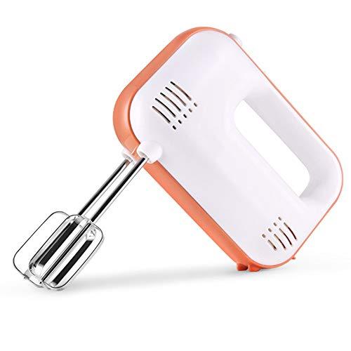 WHOJA Mixeur plongeant multifonction 3 vitesses Mélangeurs d'aliments Bâtonnets d'oeufs en acier inoxydable Fouet à oeufs Pour la cuisine 220V Mousseur à lait à la crème (Color : White)