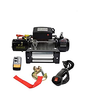 12V 13000Lbs Electric Recovery Winch Wireless Remote Control Truck SUV