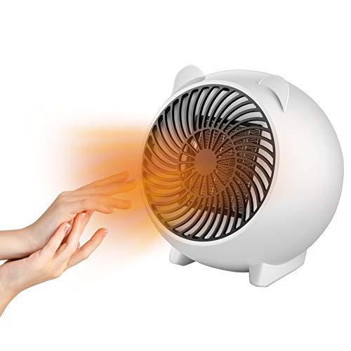 Mini Termoventilatore, Stufetta Elettrica, Termoventilatore Ceramico, Stufa elettrica portatile Riscaldamento Rapido, Protezione da surriscaldamento, Per Bagno, Stanza, Ufficio