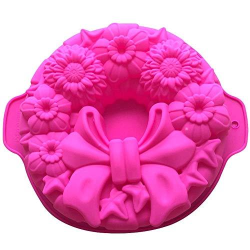 LNLW Fondant en kauwgom plakken Silicone Mold Rose Flower Cake Decorating Stempelen Mould