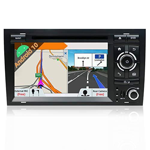 JOYX Android 10 Autoradio per Audi A4 (2003-2011) Navigation - 2G/32G - LIBRES Camera Canbus Microphone - GPS 2 Din - Supporto DAB 4G Wi-Fi Bluetooth5.0 Volante Google Carplay Split Screen - 7 pollic