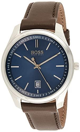 Hugo BOSS Reloj Analógico para Hombre de Cuarzo con Correa en Cuero 1513728