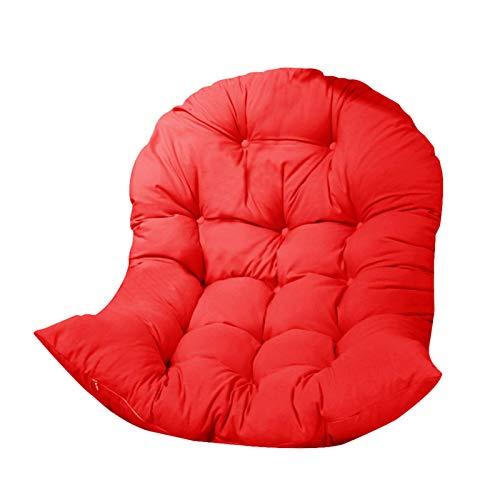 Cojín de asiento para silla colgante, cojín para silla de columpio, cojín grande y suave, redondo, para interior y exterior, dormitorio, terraza, jardín, 90 x 120 cm
