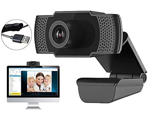 Webcam PC con Micrófono, Web Cámara 1080P, Webcam Portátil para PC,...