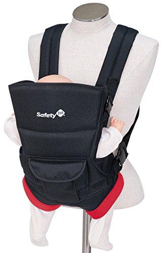 Safety 1st Youmi Babybauchtrage, bis 9 kg (ca. 9 Monate), schwarz/rot