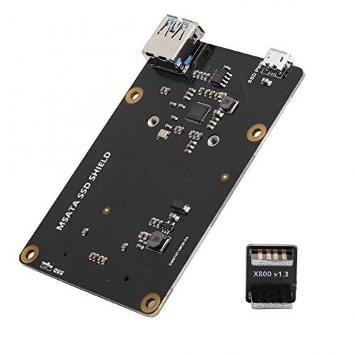 logozoe V3.1 X850 Storage Expansion Board, Storage Expansion Board, Raspberry Pi 1 Model B+/2 Model B/3 Model B/3 Model B+ USB Power