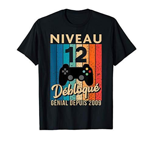 12 ans Anniversaire Garçon Fille Gamer Cadeau T-Shirt