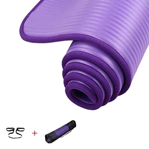 Dorsa Non-Slip yoga mat 10mm thick NBR Gym home mat exercise mat sport mat-183 * 61cm-Purple