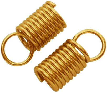 Wholesale Iron End Cheap sale Caps Golden Spiral 4.5 Packs 50+ x Save money 10 10mm of