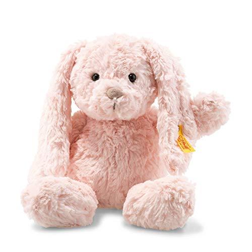Steiff Tilda Hase - 30 cm - Plüschhase mit Schlappohren - Kuscheltier für Kinder - Soft Cuddly Friends - beweglich & waschbar - rosa (080623)