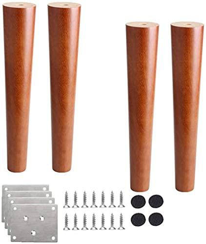 ZXLRH Patas de Mesa de Nogal, 4 Patas de Muebles de Madera Maciza, pies de sofá, pies de Repuesto, para sillas, taburetes, Mesa de Centro, Mesa de Comedor, mesita de Noche, 8cm-80cm