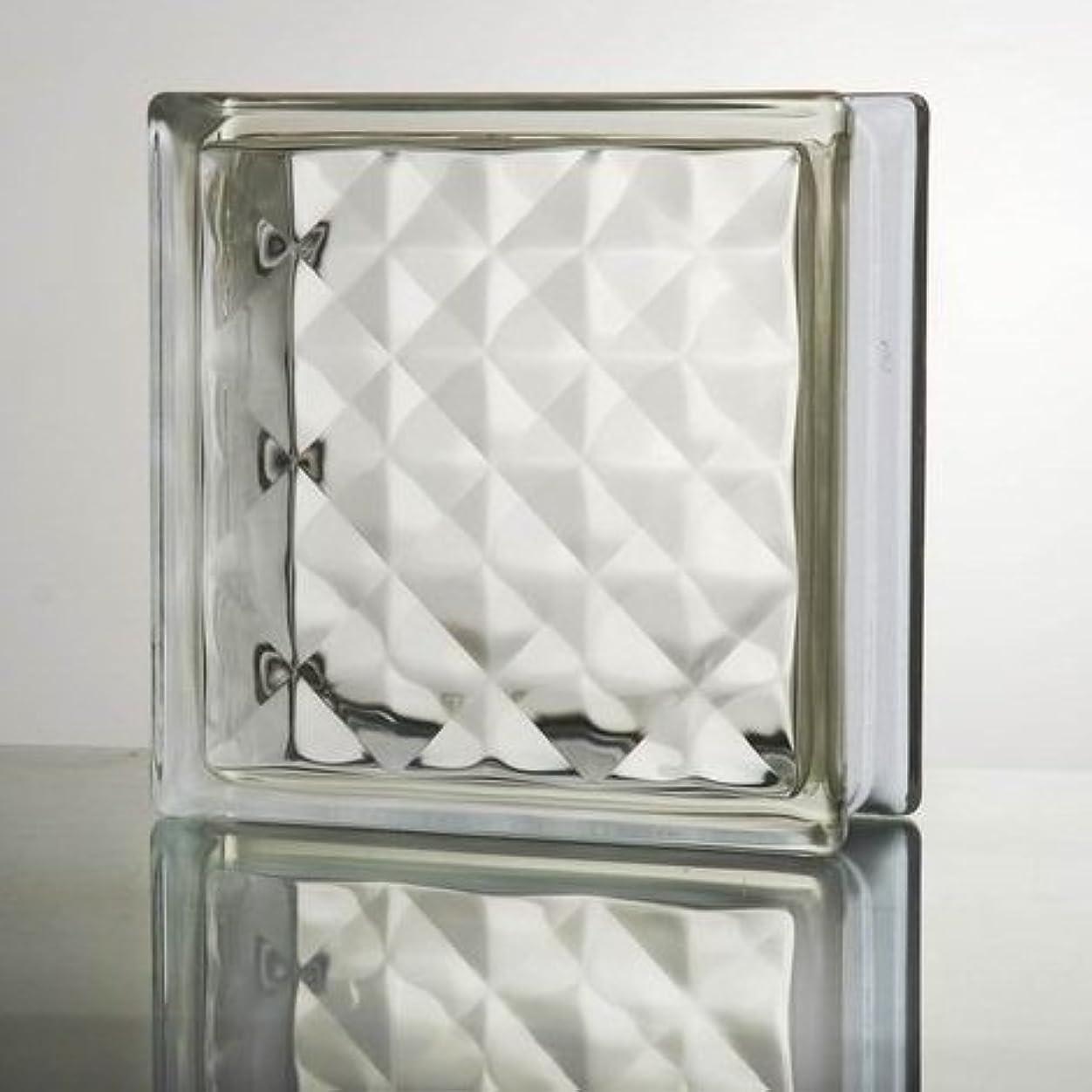著名な社会学尊敬するガラスブロック (厚み95mm クリア色宝石ライン) gb0295