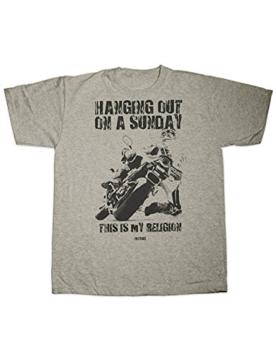 Hotfuel T-Shirt zum Aufhängen an einem Sonntag, alle Größen Gr. L, grau