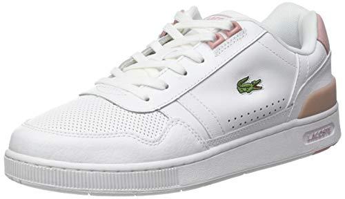 Lacoste Damen T-Clip 0120 4 SFA Sneaker, Wht/Lt Pnk, 37 EU