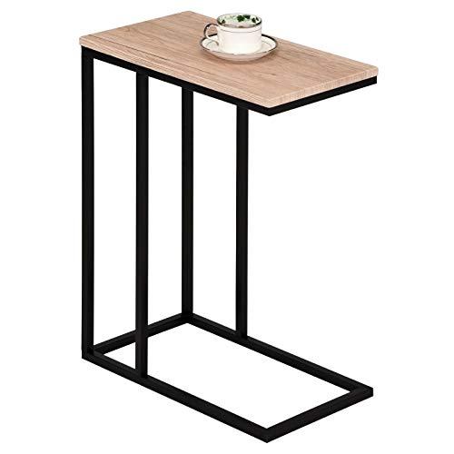 IDIMEX Beistelltisch Debora Wohnzimmertisch Couchtisch rechteckig, Metallgestell, MDF Tischplatte im Retro Stil, Wildeiche