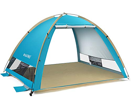 G4Free Large Pop Up Beach Tent Sun Shelter 3-4 Person Sun Shade Canopy UPF 50+ Portable Instant Tent...
