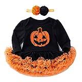 Disfraces De Calabaza De Halloween para Niños Patrones De Falda De Tutú De Malla para Niños Disfraces De Halloween Edad 0-2,B-M
