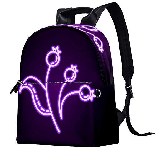 Leather Backpack School College Bookbag Travel Office Bag Laptop Backpack for Women Men - Dogrose Dusk