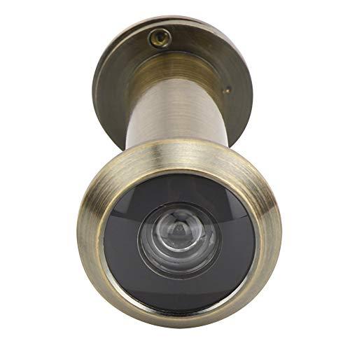 Türspion, Diebstahlschutz 220 Grad Sichtwinkel Sicherheitstürspion mit rückseitiger Abdeckung Heavy Duty Privacy Cover für 55-90mm Türstärke zu Hause(Bronzefarbe)