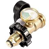 WRKAMA OUTDOOR Propane Tank Gauge Gas Pressure Digital Tank Gauge Rv Camper Cylinder BBQ Gas Grill Heater Pol to Qcc1 Adaptor...