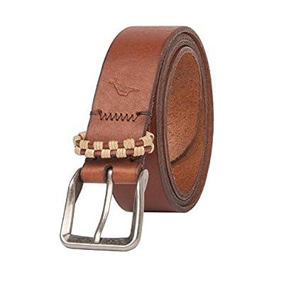Tommy Bahama Men's Casual Leather Belt, Tan, Medium (34-36)