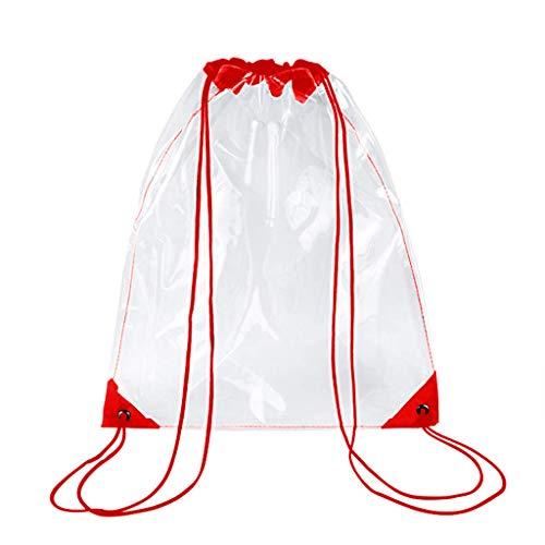 New Drawstring Bag,Transparent Drawstring Backpack School Tote Gym Bag Sport Pack