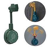 Corlidea 2020 Popular Minimalism 360 ° ajustable cabezal de ducha soporte de pared sin perforación (verde, 1 unidad)