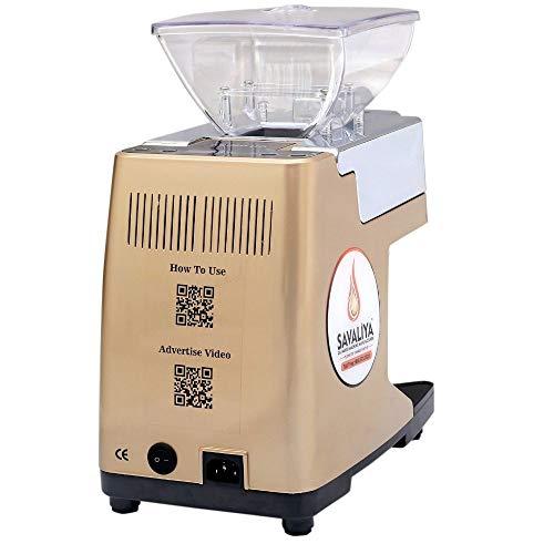 Savaliya Industries SI-801 Automatic Cold Press Oil Maker Machine    Oil Press Machine, Made in India - Brown