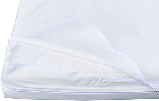 10 Anni di Garanzia Copri materassi barriera Senza alcun Trattamento o laminazione Pharma-Housse Coprimaterasso antiacaro per Letto Matrimoniale Dispositivo Medico