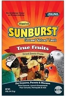 Higgins Sunburst True Fruits Gourmet Treats for Conures, Parrots & Macaws, 5 oz. by Higgins (English manual)