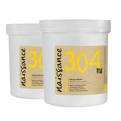 Naissance Manteca de Mango Refinada - Ingrediente Natural - 500g (2 x 250g)