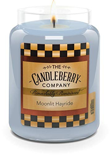 Candleberry Candles | Savory Harvest Candles | Best Candles on The Market | Hand Poured in The USA | Highly Scented & Long Lasting | Large Jar 26 oz (Moonlit Hayride)