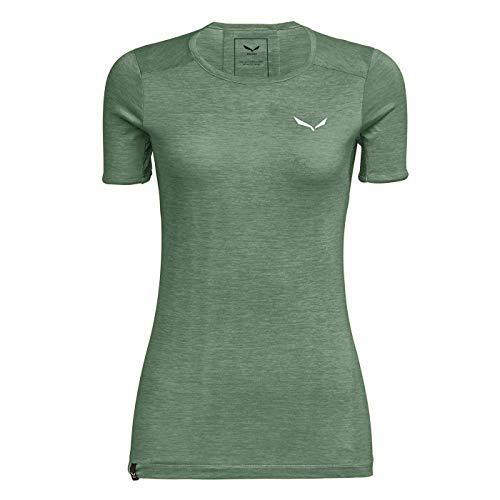 Salewa Damen Blusen und T-Shirts Puez Graphic 2 Dry W S/Tee, Feldspar Green Mel, 42/36, 00-0000027400