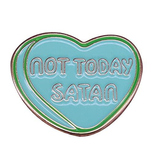 Satan Esmalte Broche De Alfinete Emblema Mochila Jaquetas Acessório-Coração